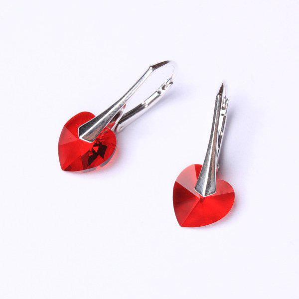 ... Náušnice Swarovski Elements - Srdce červené 10mm 1 2 ... 360e284861f