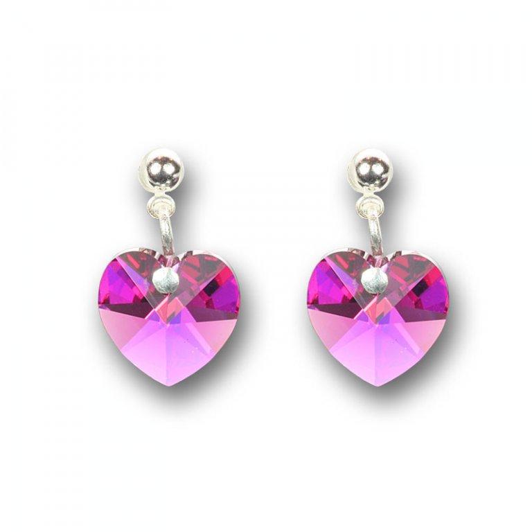 ... Náušnice Swarovski Elements - Srdce světle růžové 1 2 ... 53b14810f10